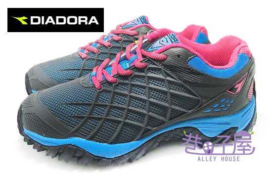 【巷子屋】義大利國寶鞋-DIADORA迪亞多納 女款KPU戶外越野跑鞋 [2378] 灰 超值價$590