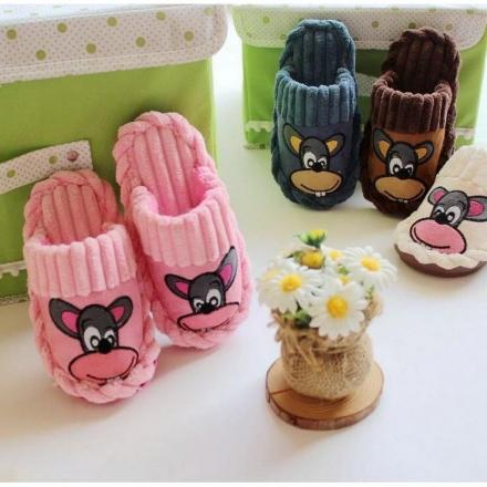 室內拖鞋 - 卡通兒童家居拖鞋 毛絨保暖棉鞋【Casa Mia】