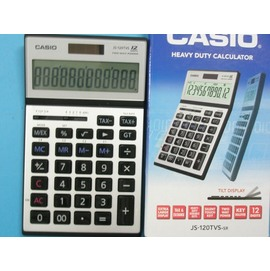 CASIO卡西歐JS-120TVS桌上商用計算機-高品質 螢幕傾斜度可調12位數/一台入{定1400}