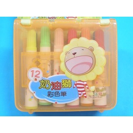 奶油獅彩色筆BLM-12/A奶油獅彩色筆12色彩色筆/一組入{定85}
