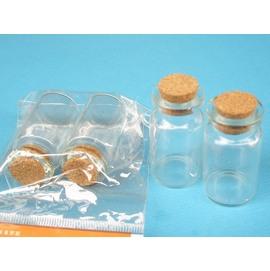 軟木玻璃罐 軟木玻璃瓶 軟木塞星沙瓶 瓶中信玻璃瓶 (小型)高40mm/一袋12包入(共24個入){定15}~3107~