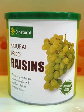 歐納丘~美國加州天然湯普森葡萄乾無籽 360克/罐*2罐~特惠中