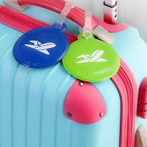 美麗大街【BF701E11E8】出行必備出差旅遊圓形飛機圖案防丟失行李牌拉桿箱牌