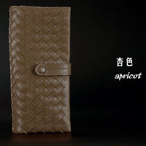 長夾 真皮編織包-羊皮經典手工時尚女皮包2色6b3【法國進口】【米蘭精品】