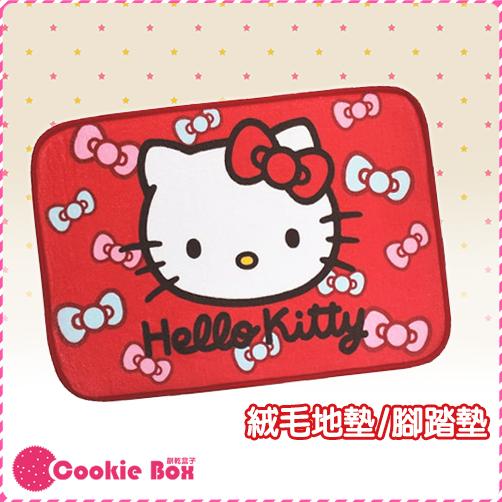 *餅乾盒子* 正版 授權 HELLO KITTY 紅色 腳踏墊 室內 踏墊 地毯 地墊 墊子 絨毛 舒適 可愛 造型