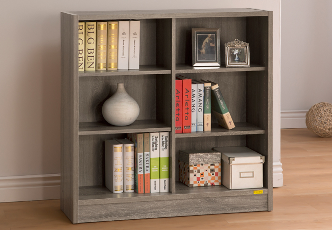 康迪仕六格寬書櫃 ( 深木色 ) 書櫃 / 書房組 & DIY組合傢俱