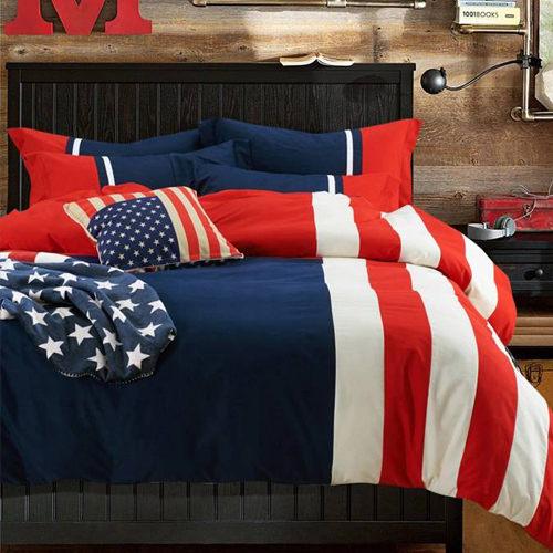 美國隊長 貼布繡 加大四件式被套床包組/ 哇哇購