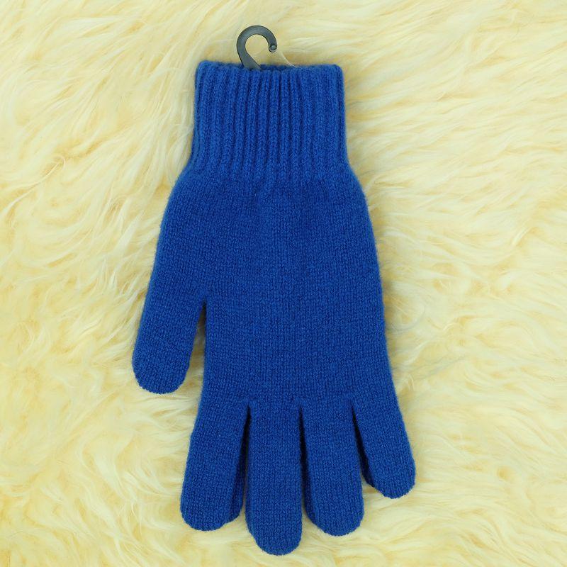 紐西蘭100%美麗諾羊毛手套*寶藍色