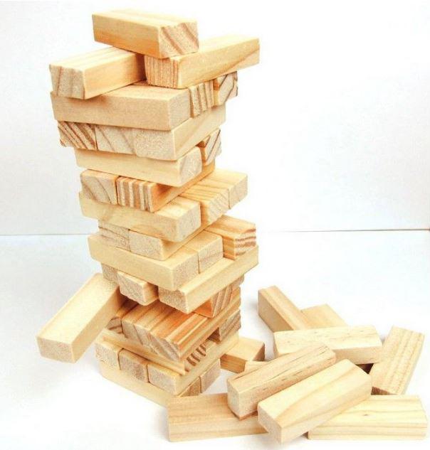 兒童木製玩具-精品小號原木色疊疊高積木 疊疊樂 59元