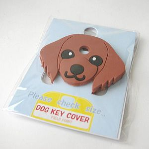 FIELD&POINT超可愛狗寶貝鑰匙套 紅棕臘腸