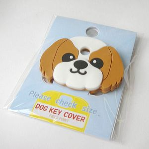 FIELD&POINT超可愛狗寶貝鑰匙套 西施