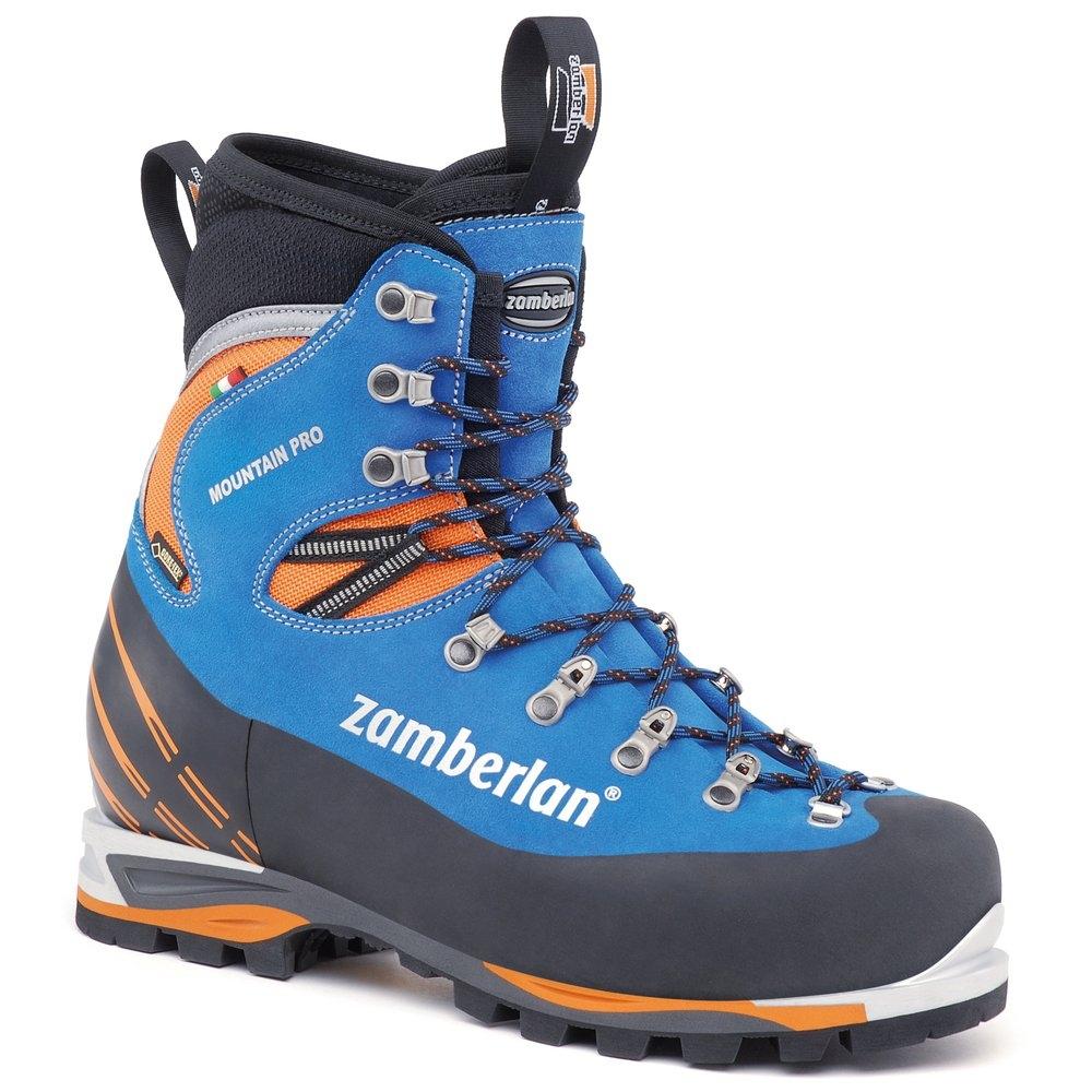 ZAMBERLAN 防水高筒皮革重裝登山鞋/冰攀/雪攀 2090 Mountain Pro Evo GTX RR 中性款 皇家藍/橘 義大利製