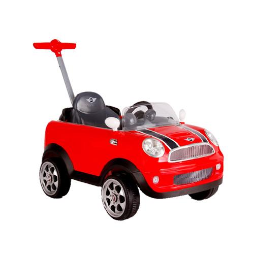 【奇買親子購物網】ZW455 MINI COOPERS四輪後控助步車 (紅)