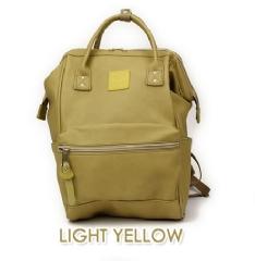 『日本代購品』大款皮質 LYE薑黃 anello 新款 皮質大開口後背包 皮製2WAY手提包超便利寬口包