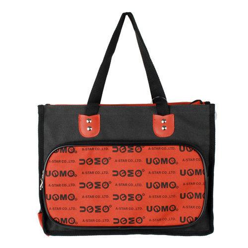 *babygo*UnMe橫式多功能提袋/補習袋N1314【紅色】