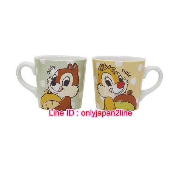 【真愛日本】16101300072 陶瓷馬克對杯組-奇奇蒂蒂  迪士尼 花栗鼠 奇奇蒂蒂 松鼠 水杯 茶杯