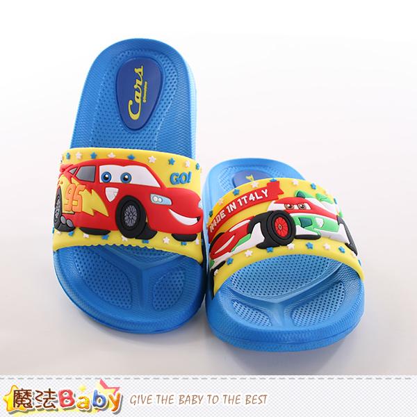 兒童拖鞋 迪士尼閃電麥坤正版兒童拖鞋 魔法Baby~sh9792