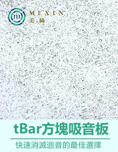 輕鋼架天花板專屬~ Mexin美絲【安心白】彩色tBar方塊吸音板