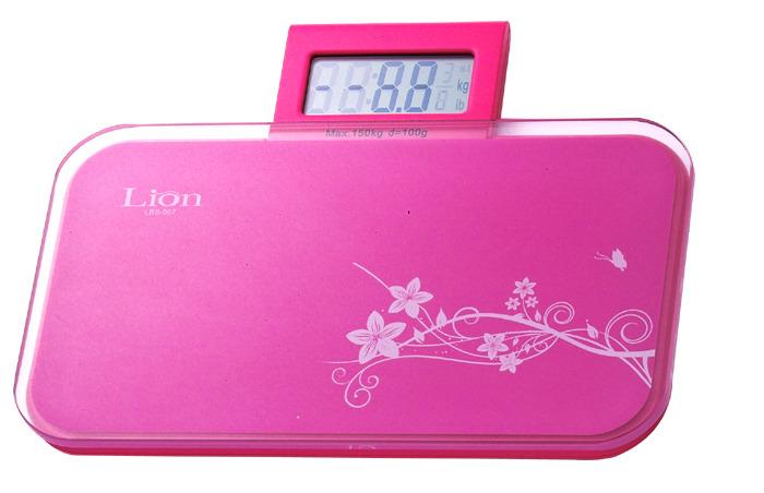 LION 獅子心粉彩時尚電子體重計(伸縮型) LBS-007