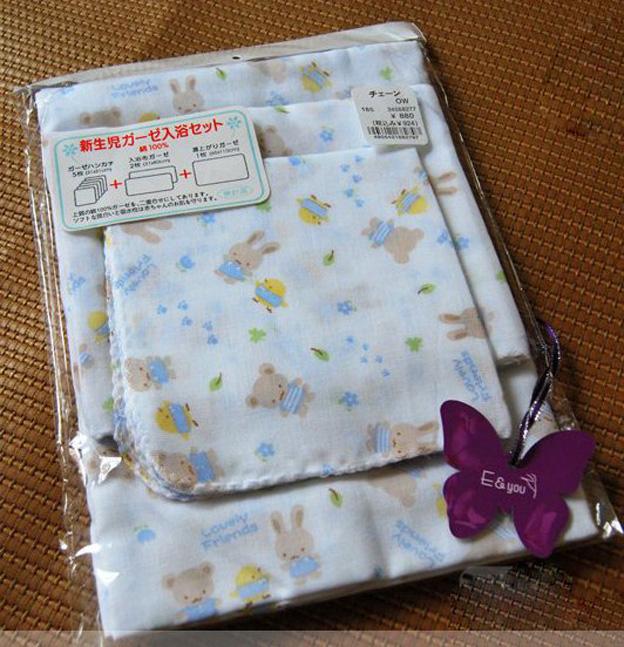 *孕味十足。孕婦裝【F126】可愛圖樣全棉雙層紗布巾8件組(隨機出貨)