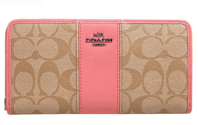 COACH F52859女士拼色長款拉鍊長夾錢夾手拿包