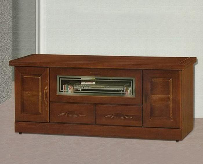 【尚品家具】868-04 胡桃色樟木半實木6尺電視櫃(另有7、5、4尺)