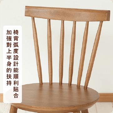 天然橡膠木餐桌椅4件組