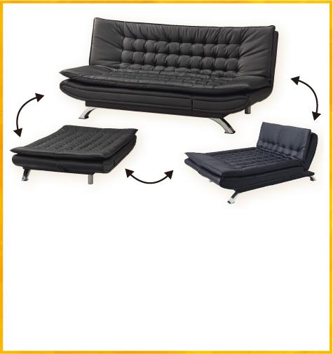 耐磨皮革 沙發床