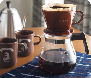 彩釉陶瓷咖啡濾杯