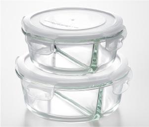 分隔耐熱玻璃保存容器