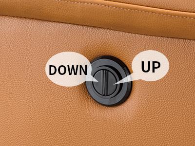 側邊按鈕,輕鬆簡單操作電動可躺椅背