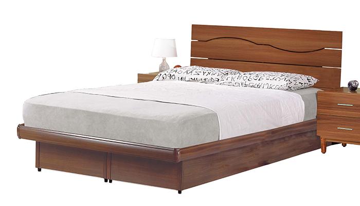 【 尚品傢俱】JF-084-2 亞米5尺胡桃雙人後掀床底
