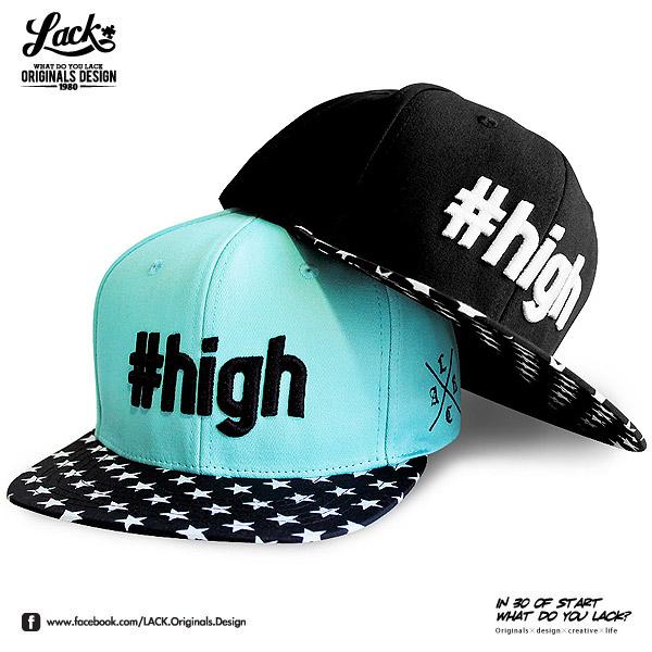 [新品免運] LACK #high STAR SNAPBACK - HIGH 最高 湖水綠 Tiffany 星星 限量 兩色 LA141004 送配色手環 獨家
