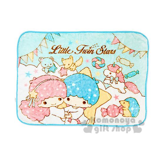 〔小禮堂〕雙子星 隨身披肩毯《藍.派對.糖果.朋友》70x100(cm)