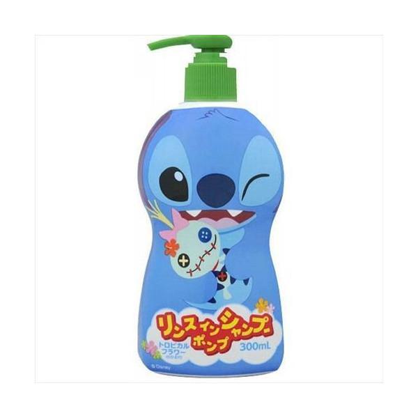 [買一送一]BANDAI 迪士尼史迪奇兒童潤絲洗髮精 300ml