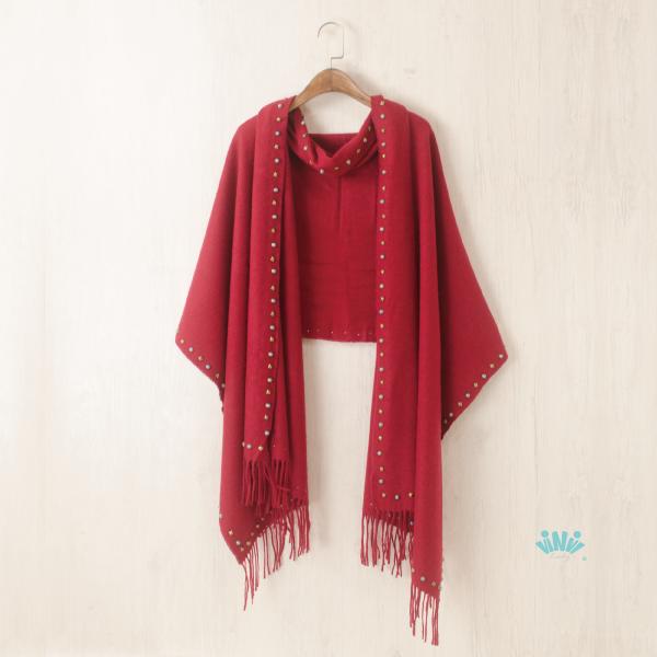 秋冬寬版圍巾披肩