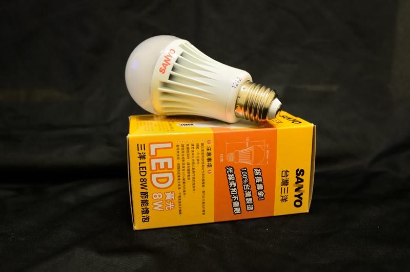 【SLD-208H】三洋SANYO LED 8W節能燈泡 SLD-208H (黃光) E27燈座 (3顆裝)