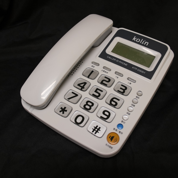 【KTP-DS001】 《免電池》KOLIN 歌林 來電顯示有線電話機 KTP-DS001 保留音樂