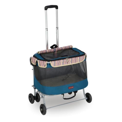 沛德奧Petstro寵物拉箱/貓籠-215輕旅行系列-加大型 (靛藍)