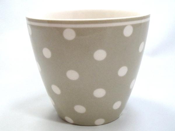 【預購】GreenGate 拿鐵杯  少女心 灰底小白點點