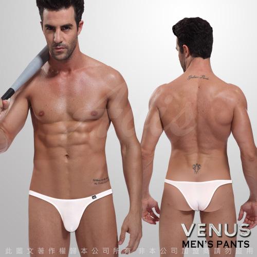 情趣用品 VENUS 性感先生 素色三角褲 白 d0272wh