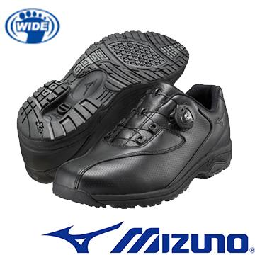 B1GC152609(黑)日本大人氣 WAVE LD40 BOA 免綁鞋帶寬楦健走鞋【美津濃MIZUNO】