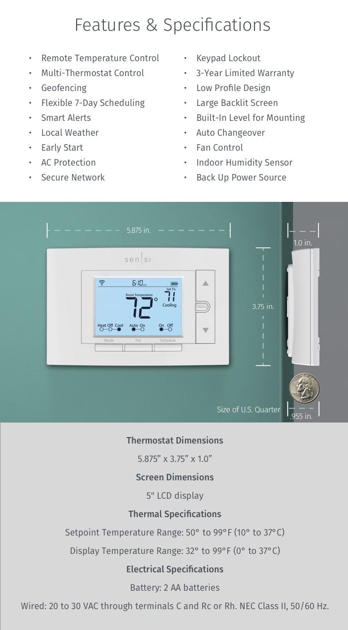 Emerson Thermostats  Emerson Sensi Wi