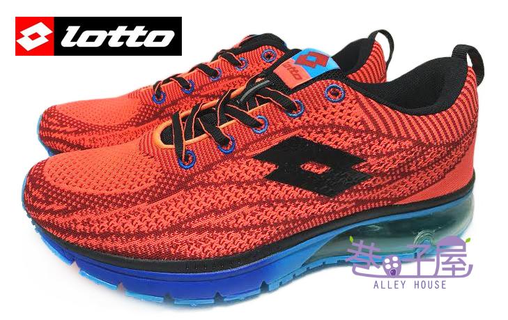 【巷子屋】義大利第一品牌-LOTTO 男款WAVEKNIT編織氣墊慢跑鞋 [2562] 紅 超值價$690