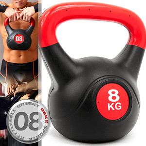 8公斤壺鈴KettleBell重力(17.6磅)8KG壺鈴.拉環啞鈴搖擺鈴.舉重量訓練.運動健身器材.推薦哪裡買C109-2108