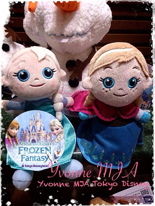 Yvonne MJA日本代購*東京迪士尼Disney限定正品Frozen冰雪奇緣雪寶Elsa愛莎Anna安娜公主絨毛娃娃