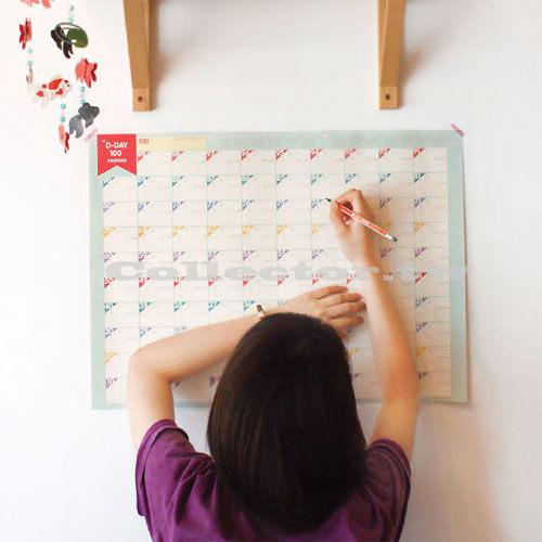商品短缺補貨中~【L13080901】韓版奮鬥100天計劃表日曆計劃表 行事曆/倒數計時表