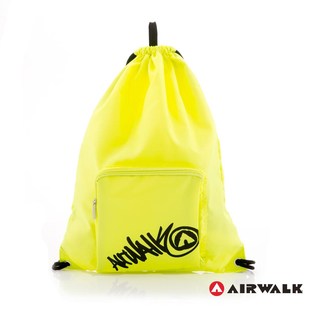 AIRWALK街頭系列-街頭主義系列-束口後背包(螢光黃)