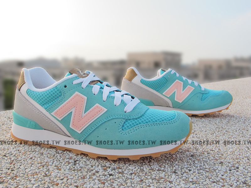 [22.5cm]《超值6折》Shoestw【WR996TMC】NEW BALANCE NB996 復古慢跑鞋 蒂芬妮 薄荷 粉紅 復古標