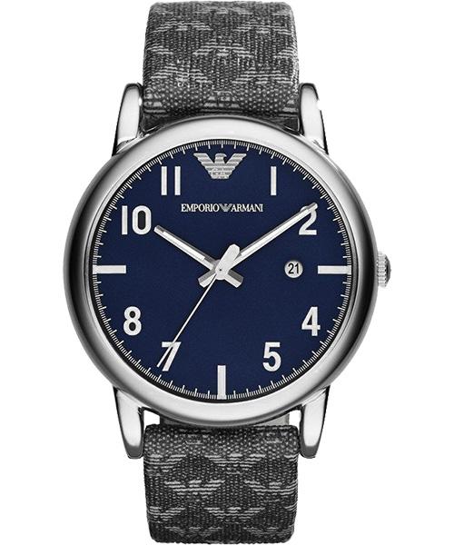 EMPORIO ARMANI/AR1834典藏灰時尚腕錶/藍面41mm